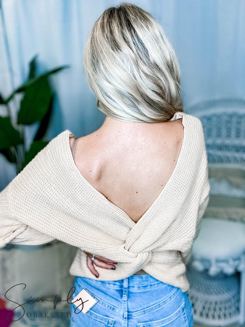 Love Tree - Oversized Twist Back Sweater