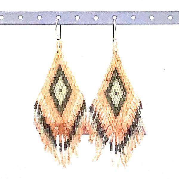 VJ - Aztec Beaded Earrings