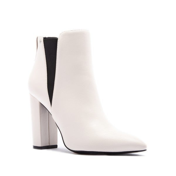 Qupid - Pointy Slip On Heel Boots