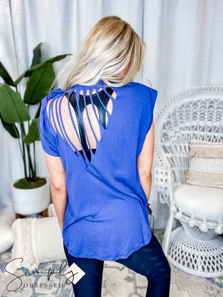 Trend Notes- Cotton slub top cut open back