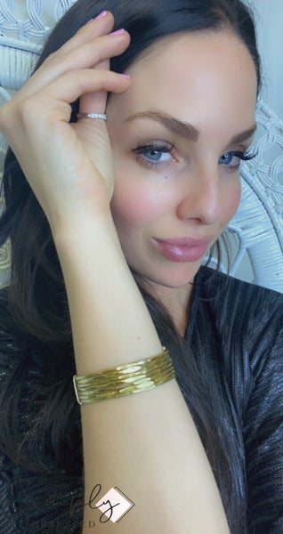 WORLD FINDS - Banded Gold Cuff