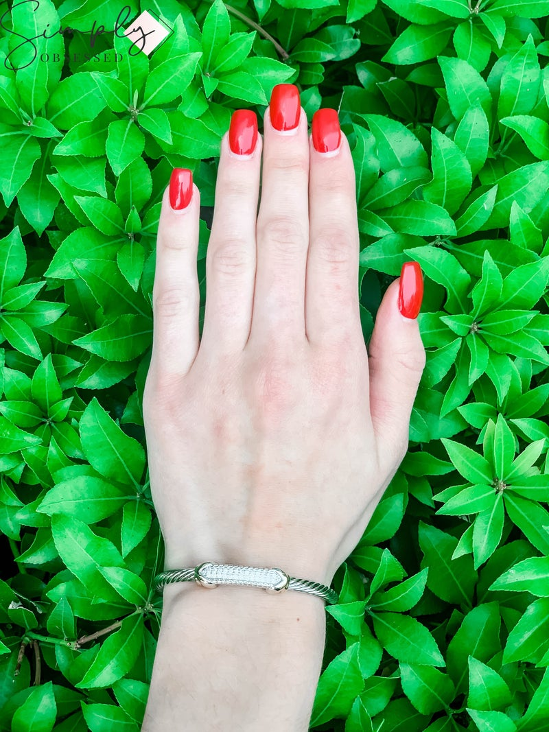 NYJ - Twist Gold + Silver Bracelet