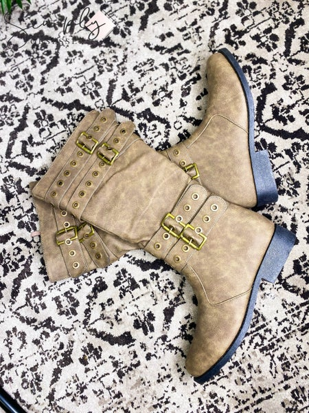 Thistle & Clover - Multi Belt Buckle Accent Boots