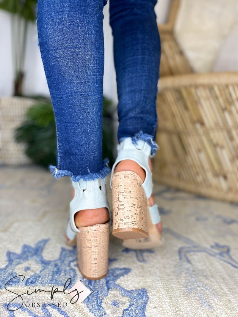 Yoki - Stud Ankle Cuff Chunky Sandals