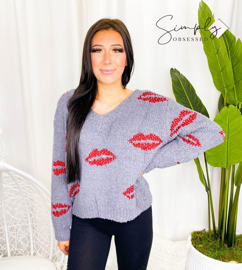 Pol - V neck knit top sweater