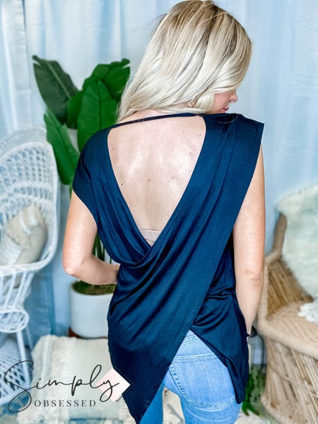 Rae Mode - Relaxed and flowing yoga top with v neck and open back(All Sizes)