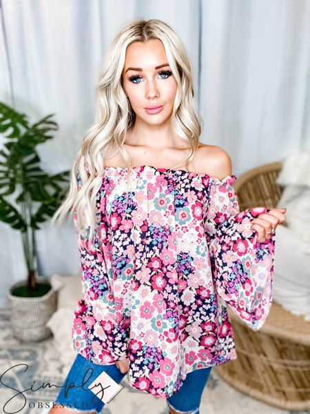 143 Story - Off shoulder ruffle sleeve top(All Sizes)