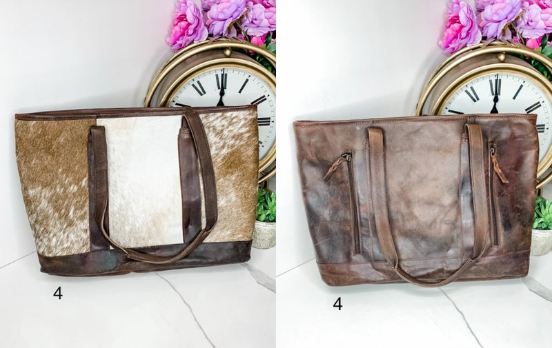 AMERICAN DARLING-LARGE BAG WITH LEATHER DESIGN