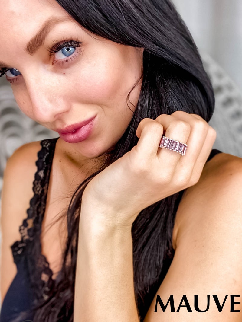 Lou & Co - Thick Faceted Stone Ring