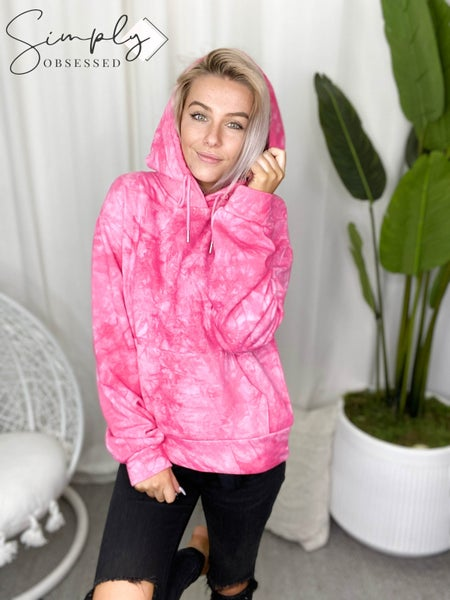 Hailey & Co - Long Sleeve Tie Dye Hoodie