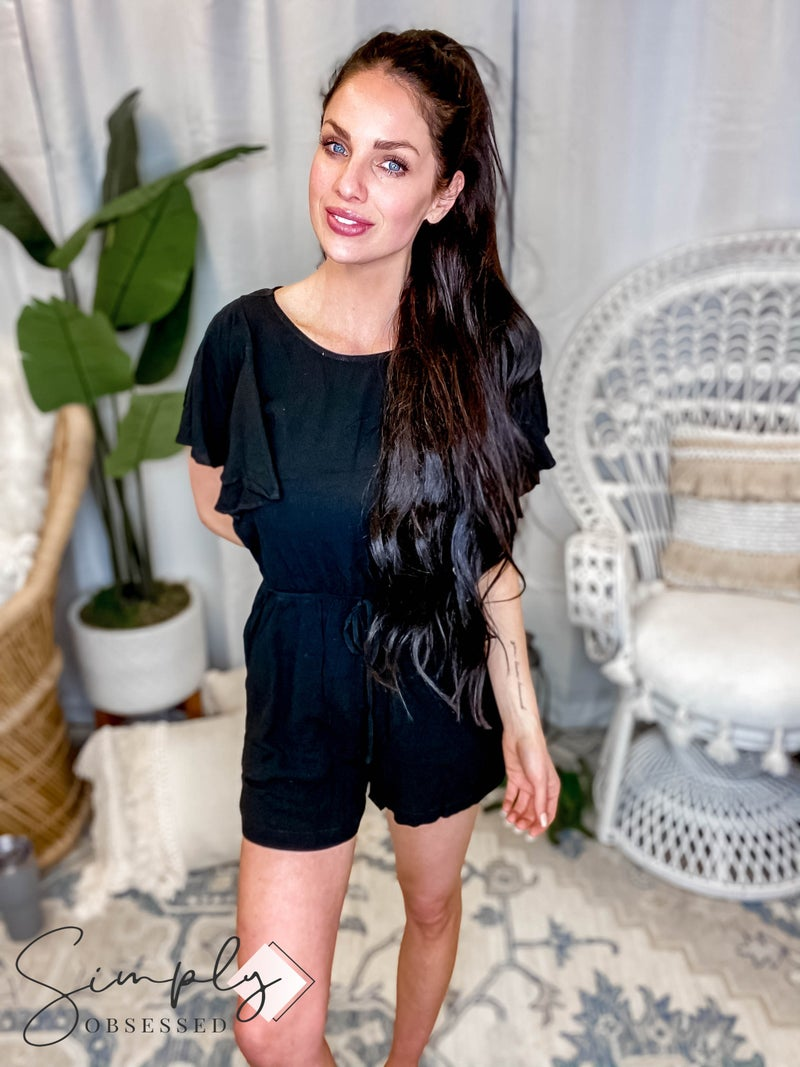 Mittoshop - Romper w/ Ruffled Sleeves