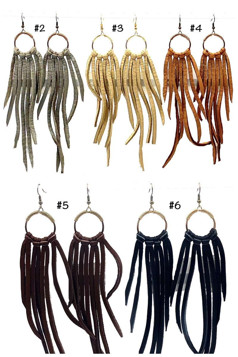 Ellison James - Mini Hoop Fringe Earrings