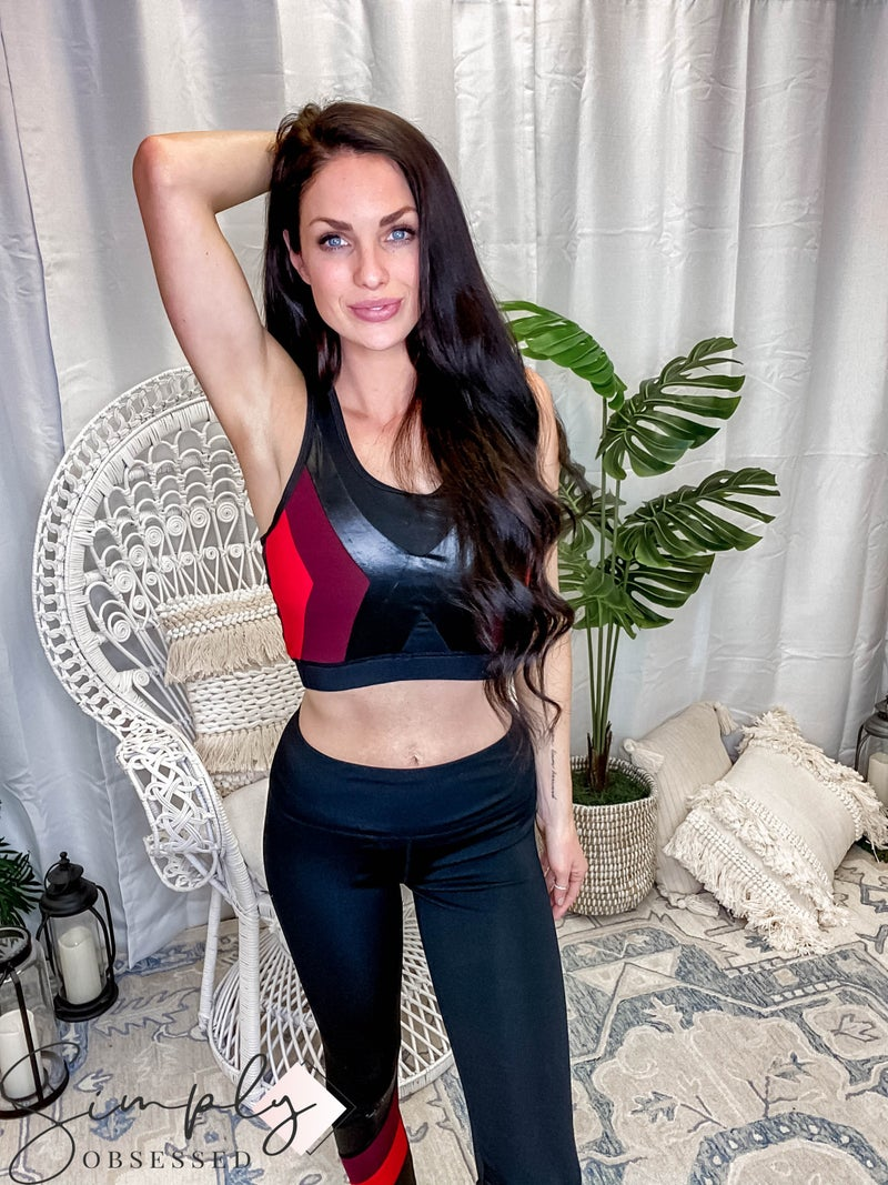 Kimberly - Color Block Sports Bra & Full Length Leggings