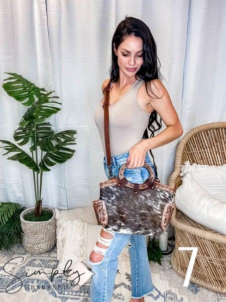 American Darling - Hand Carved Cowhide Tote Bag