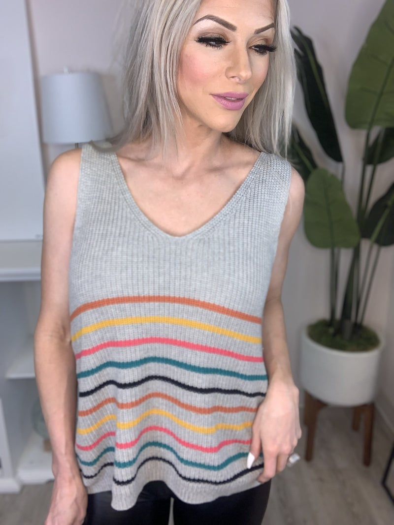 Andree By Unit - V neck sweater top(plus)