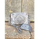 Leaders In Leather - Tooled Mandala Crossbody Tassel Shoulder Bag