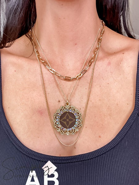 UpCycled - LV Multi-Layered Necklaces