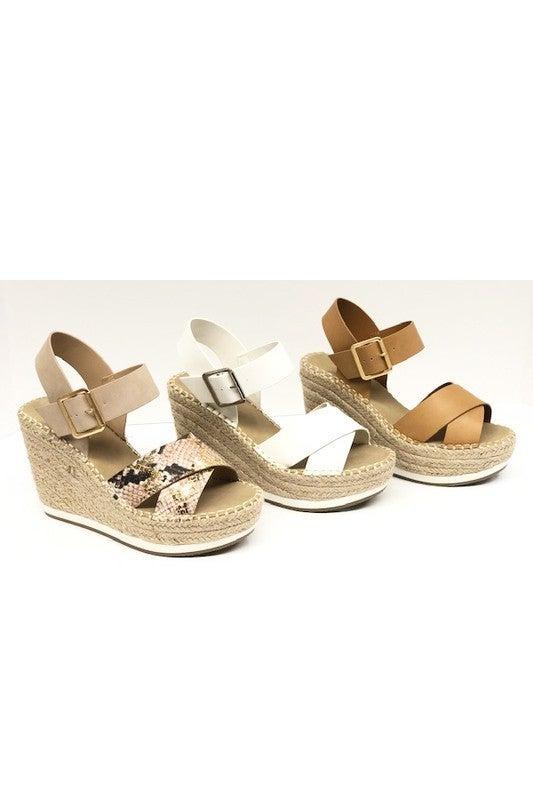 Soda - Wedge Sandal Heels