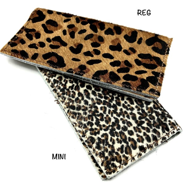 Hair-on-Hide Leather Leopard Wallet
