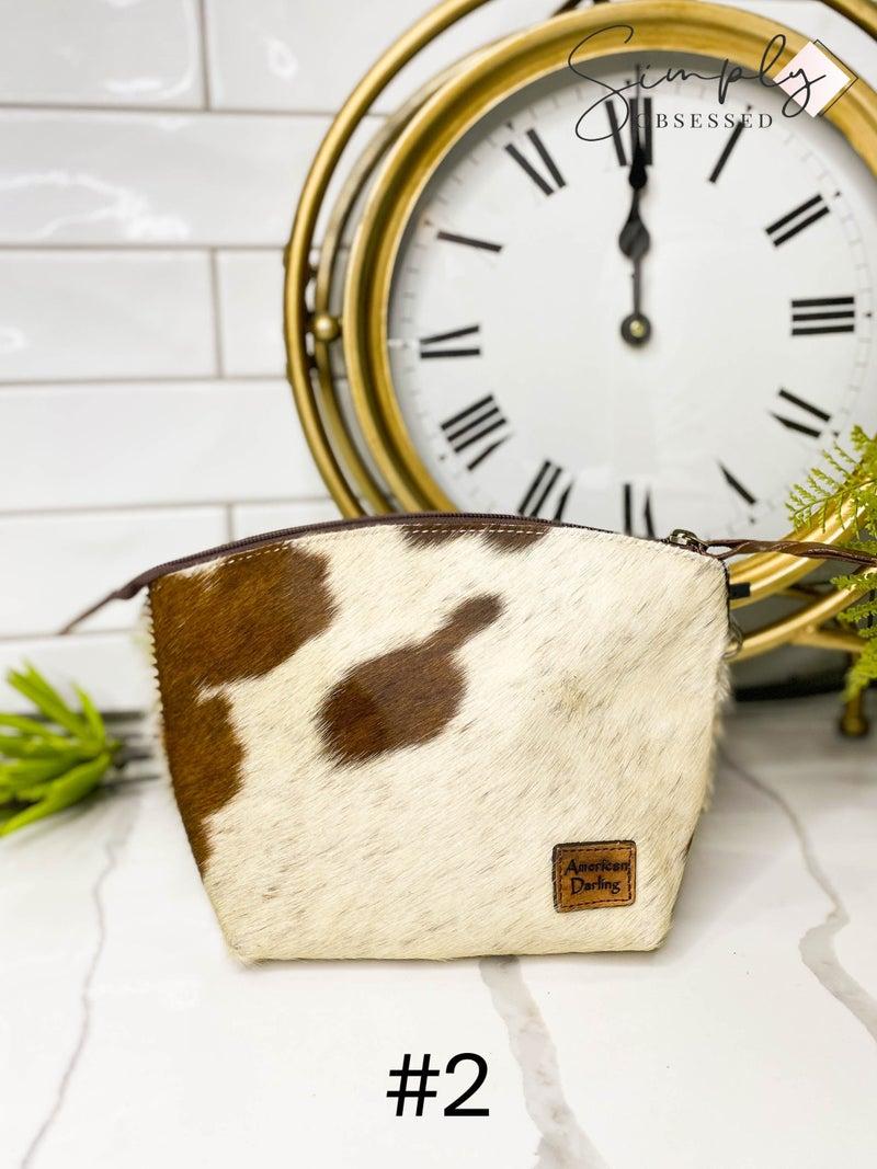 American Darling - Small genuine leather wristlet detail bag