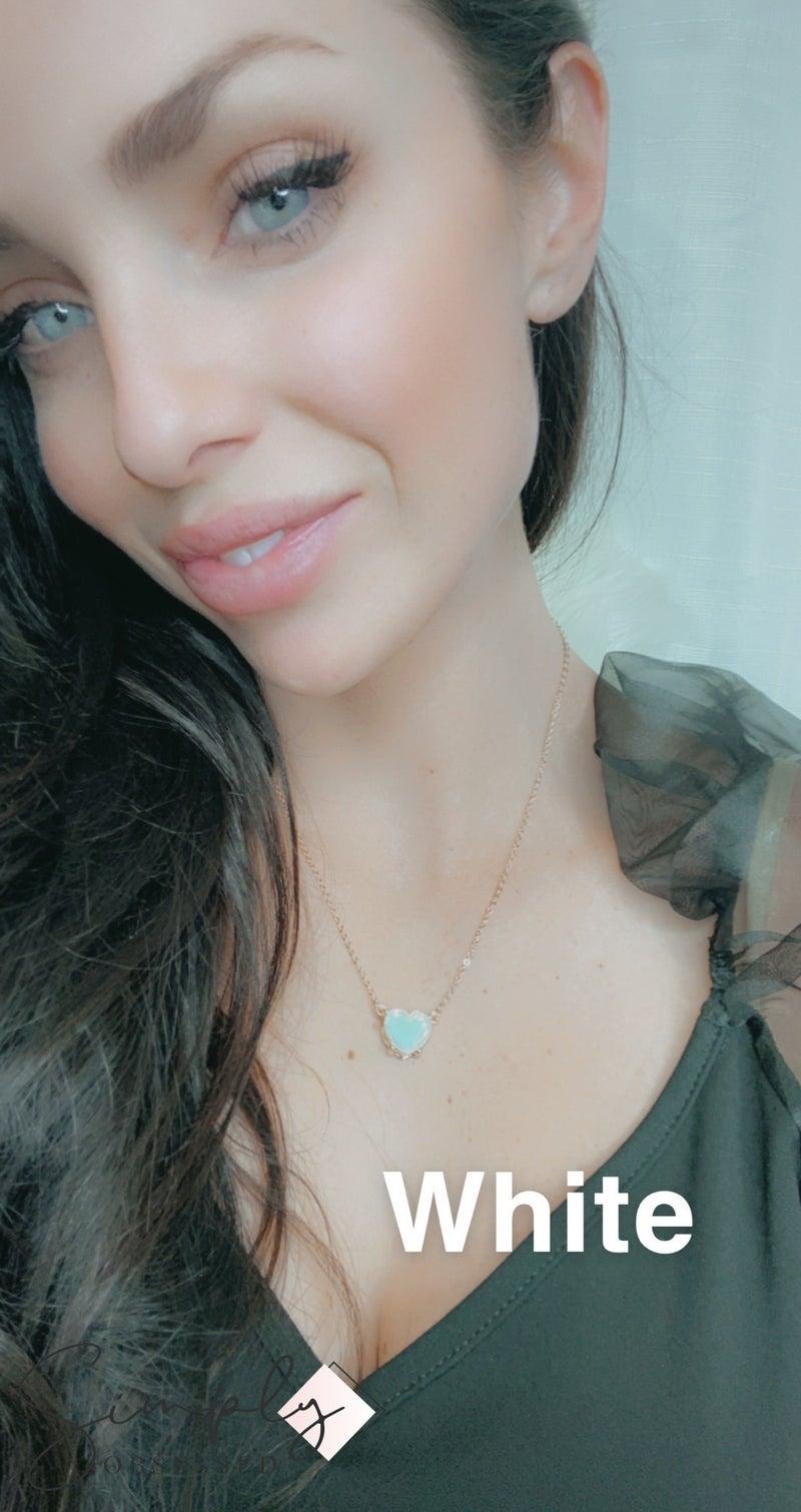 Urbanista - Luminous Acetate Heart Shaped Necklace