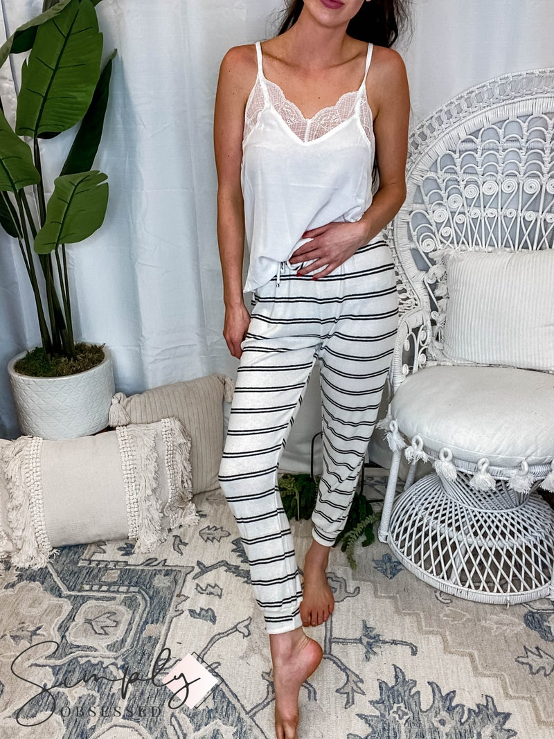 Flying Tomato - Knit Jogger Pants Featuring Elasticized Waist & Tacked Front