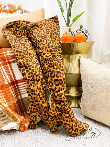 Wild Diva - Thigh high heeled drawstring boots