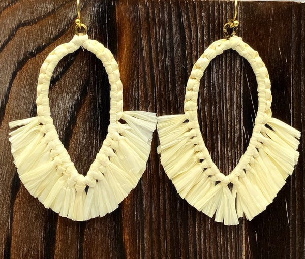 WORLD FINDS - Boho Teardrop Fringe Earrings