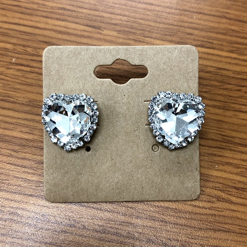 UpCycled - Small Heart Stud earrings