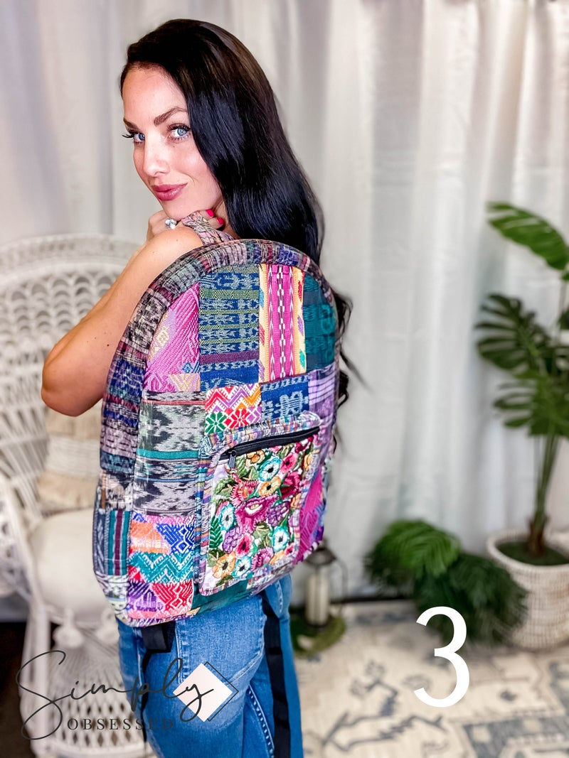 Lucia's Imports - Chichi Patch Backpack (Assorted)