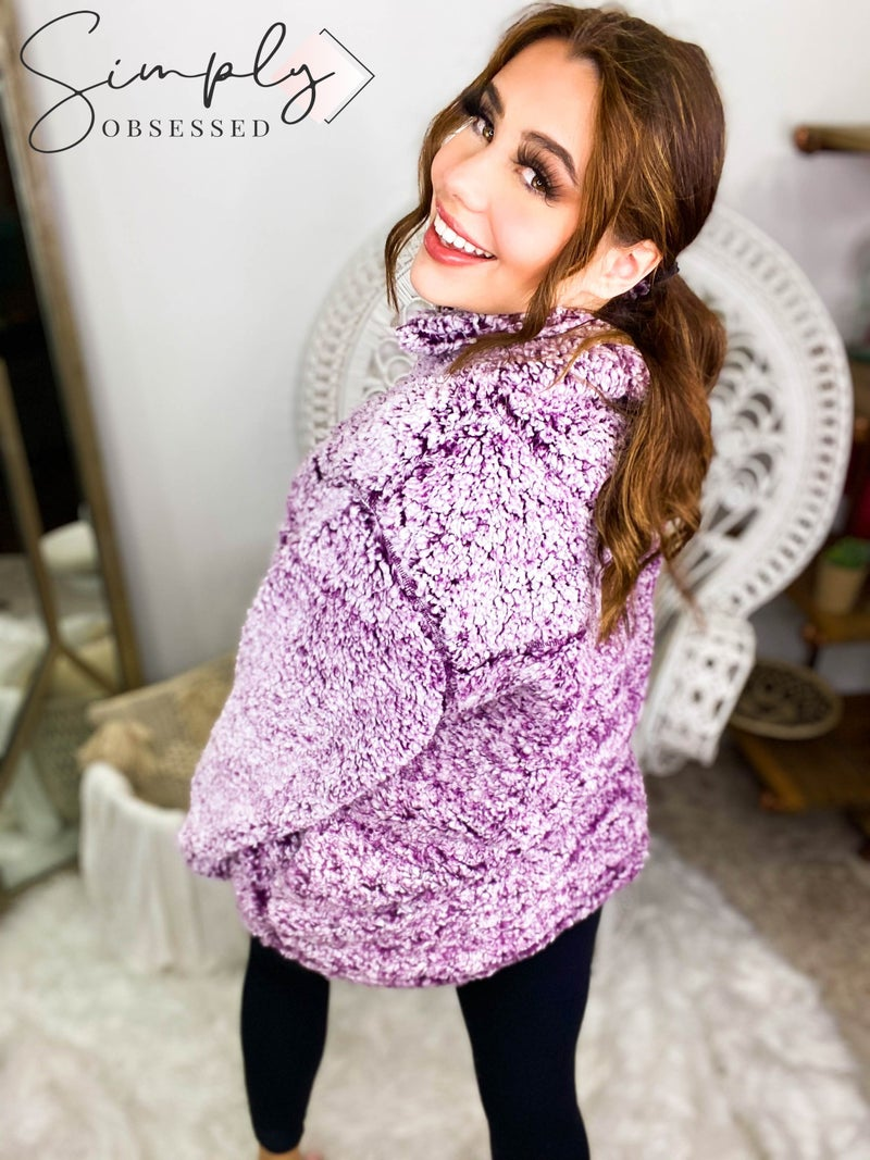 ZENANA-Dyed Sherpa Pullover