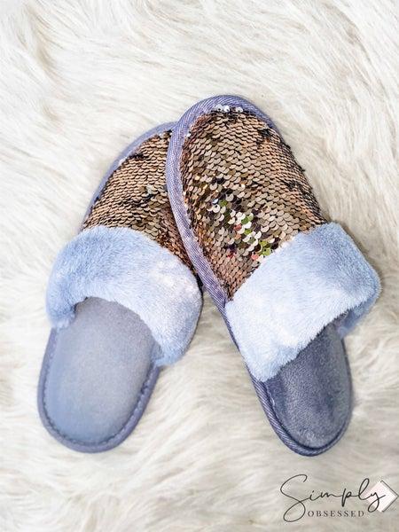 Wanna B - Sequin Slippers