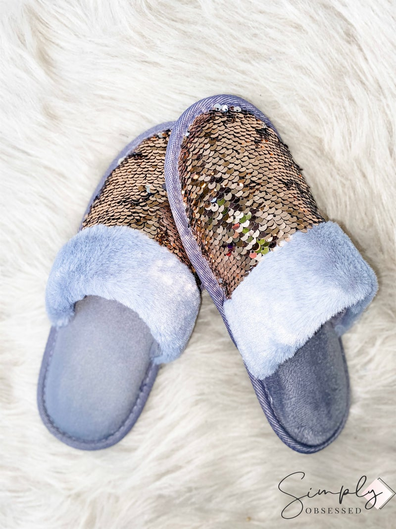 Wanna B - Sequin Slippers