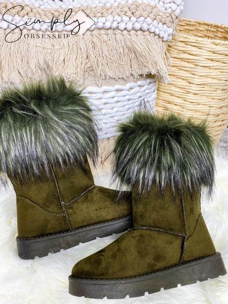 Bamboo - Fur top soft winter boots