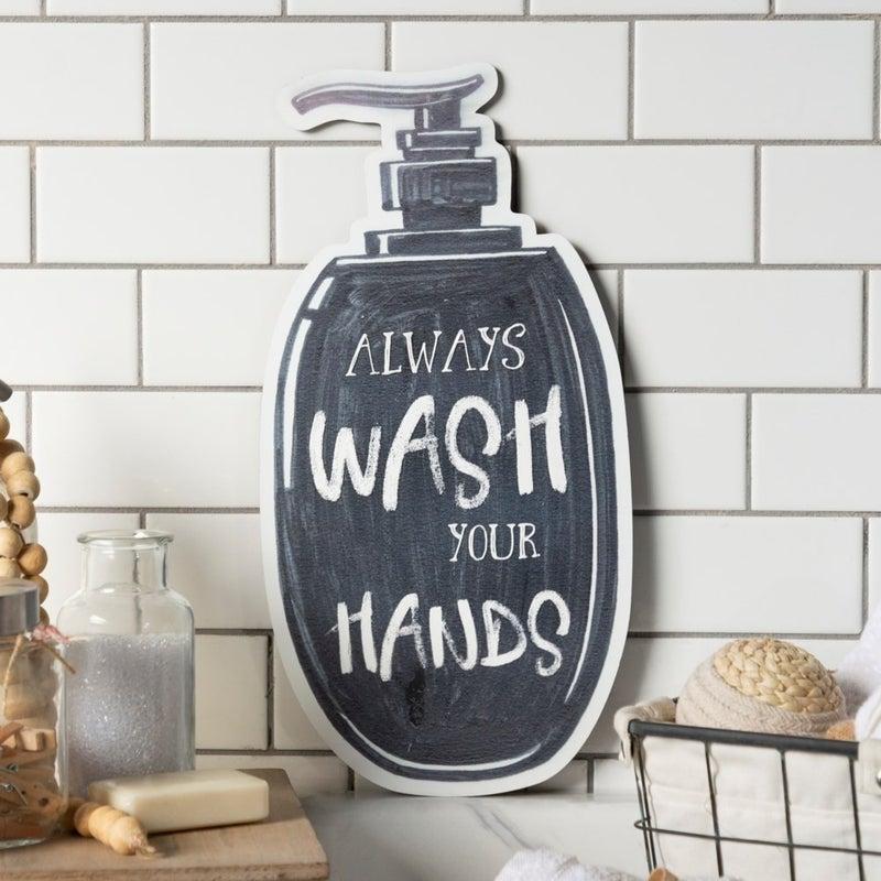VIP ATL - Laser Cut Metal Sign Always Wash Your Hands