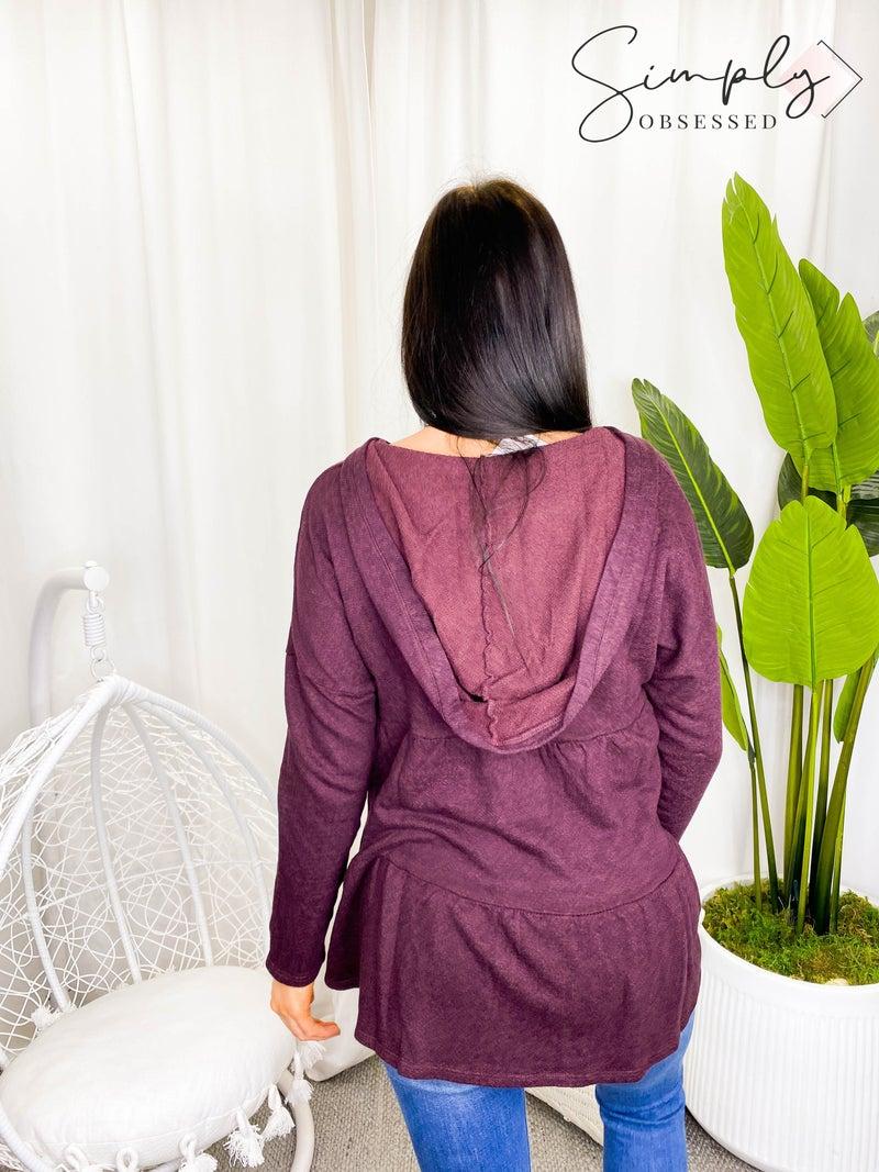 Sapphire O - Garment dye over easy hoodie
