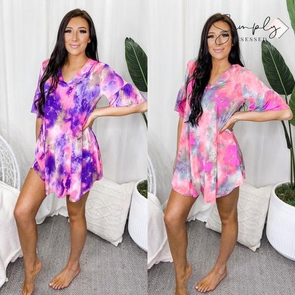 EMERALD-Tie Dye Venezia Dress