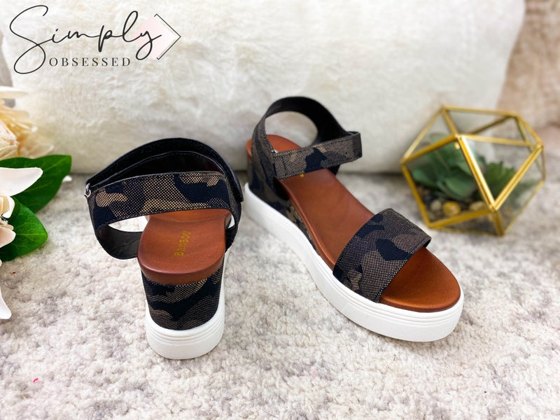 Bamboo - Ankle strap platform sandals