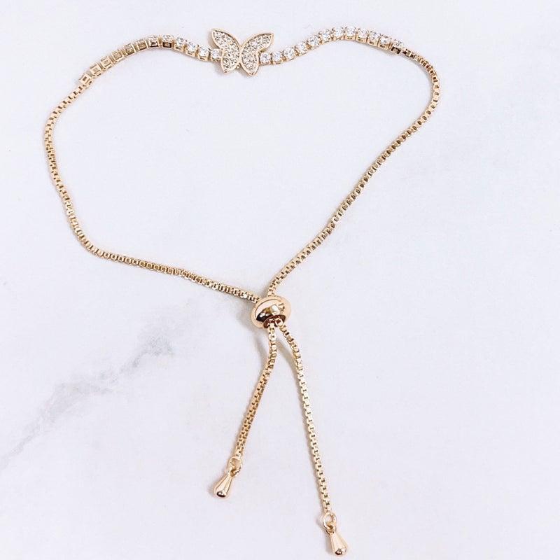 Treasure Jewels - Butterfly Crystal Bracelet