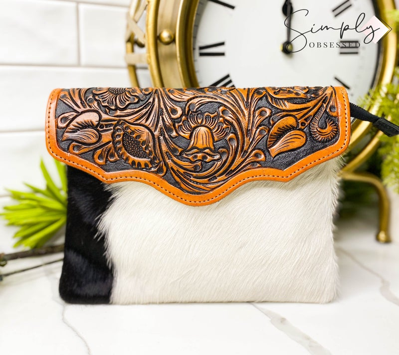 American Darling - Hand crafted leather work small crossbody bag