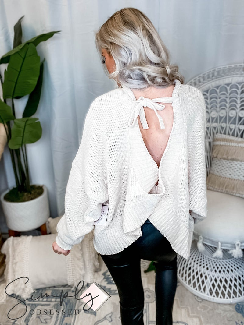 Easel - Open back knitted pull over sweater