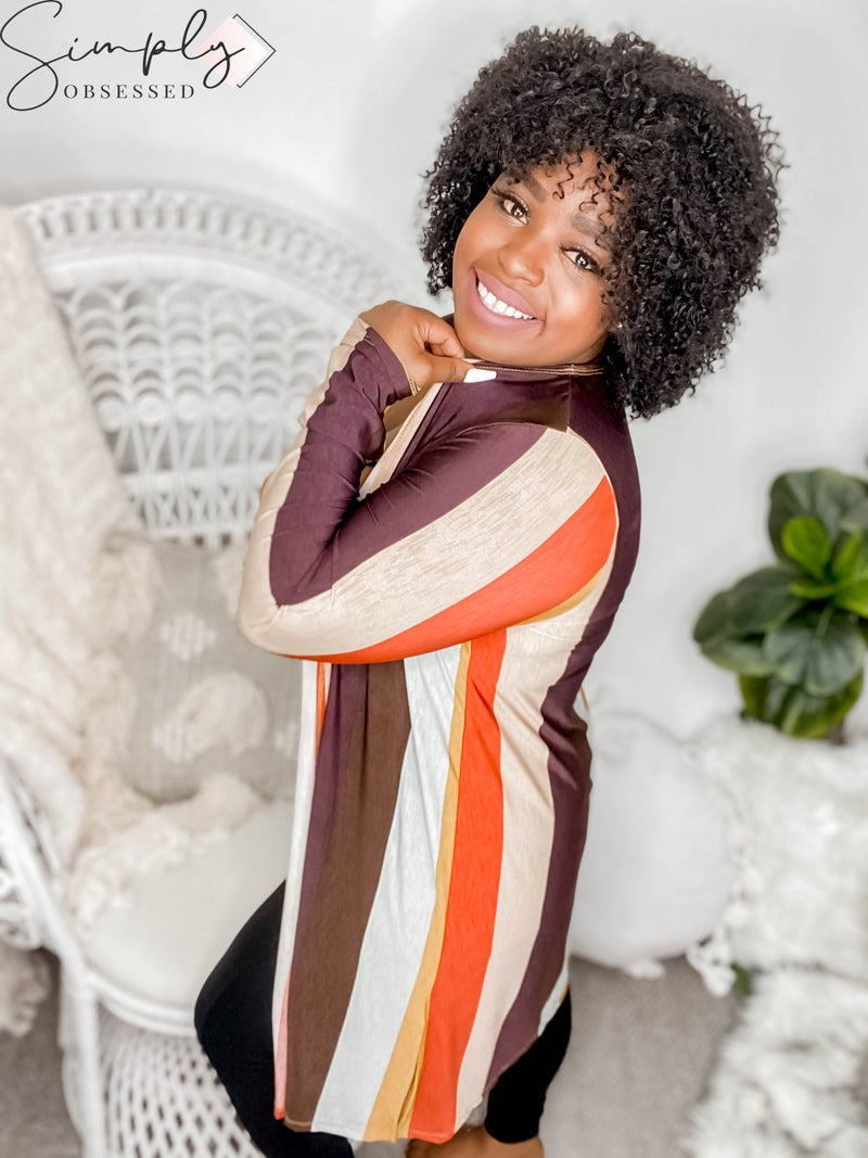 Sew In Love - Long Sleeve Multi Color Cardigan