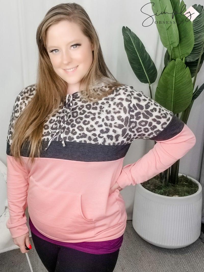 7th Ray - Color block hooded sweatshirt
