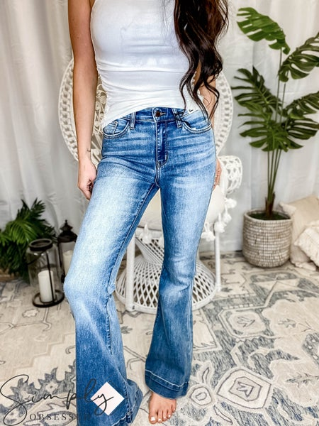 """Judy Blue - Mid Rise Trouser Flare Inseam: 33"""" Rise: 10"""""""