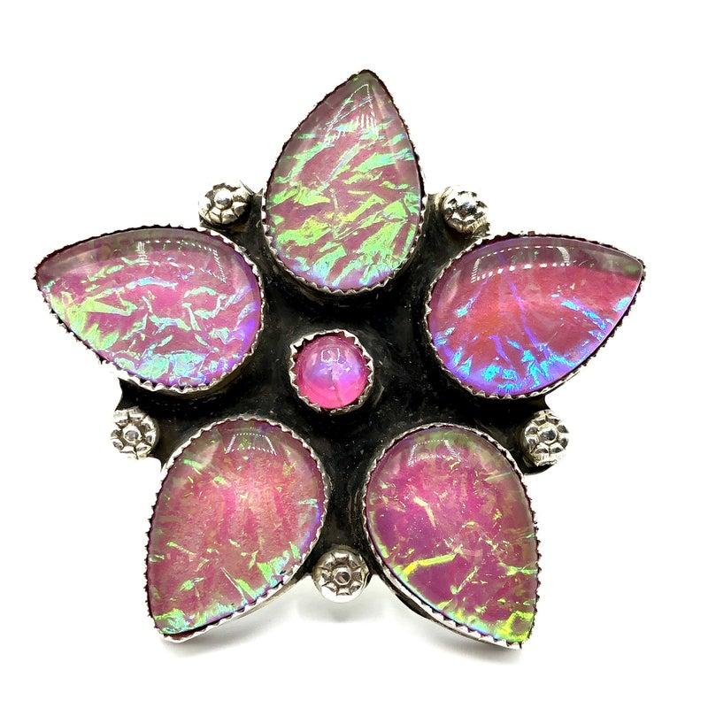 M&S - Iridized Opal Flower