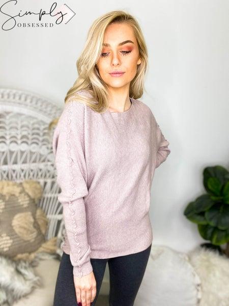 Allie Rose - Ruffled Dolman Soft Fine-Gauge Sweater