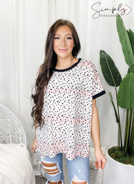 Sew in Love - Short sleeve round neck tunic top
