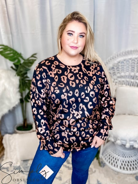 Oddi - Leopard print sweater with side zip up detailing