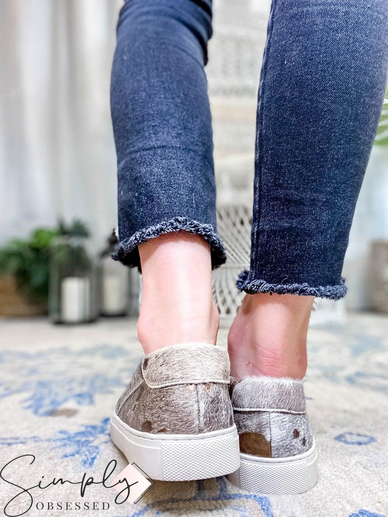 Corkys - Acid wash detail slip on sneakers