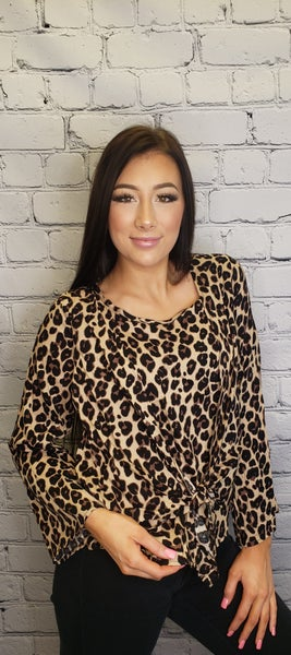 Andree by unit - Leopard woven top